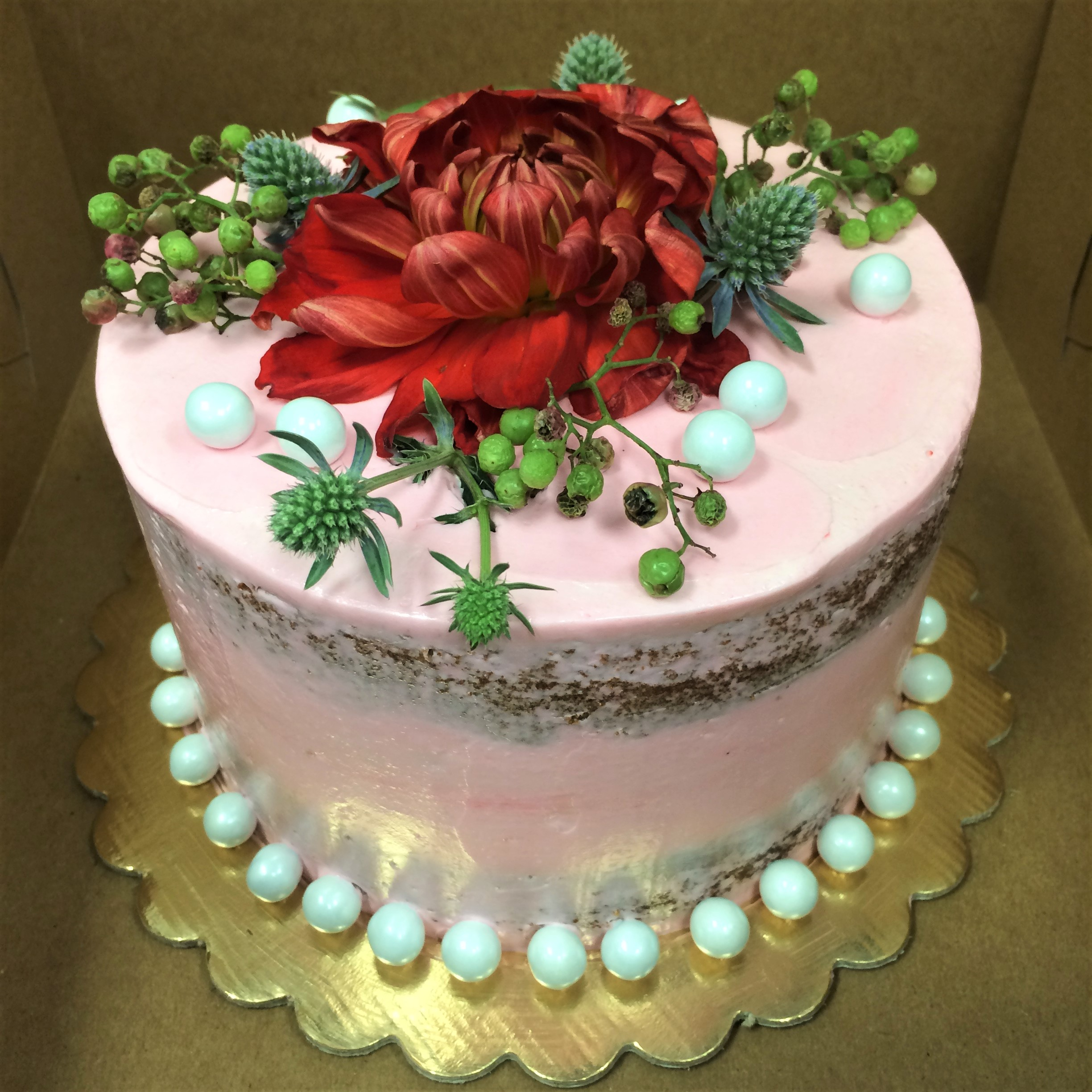 6'' pink champagne cake
