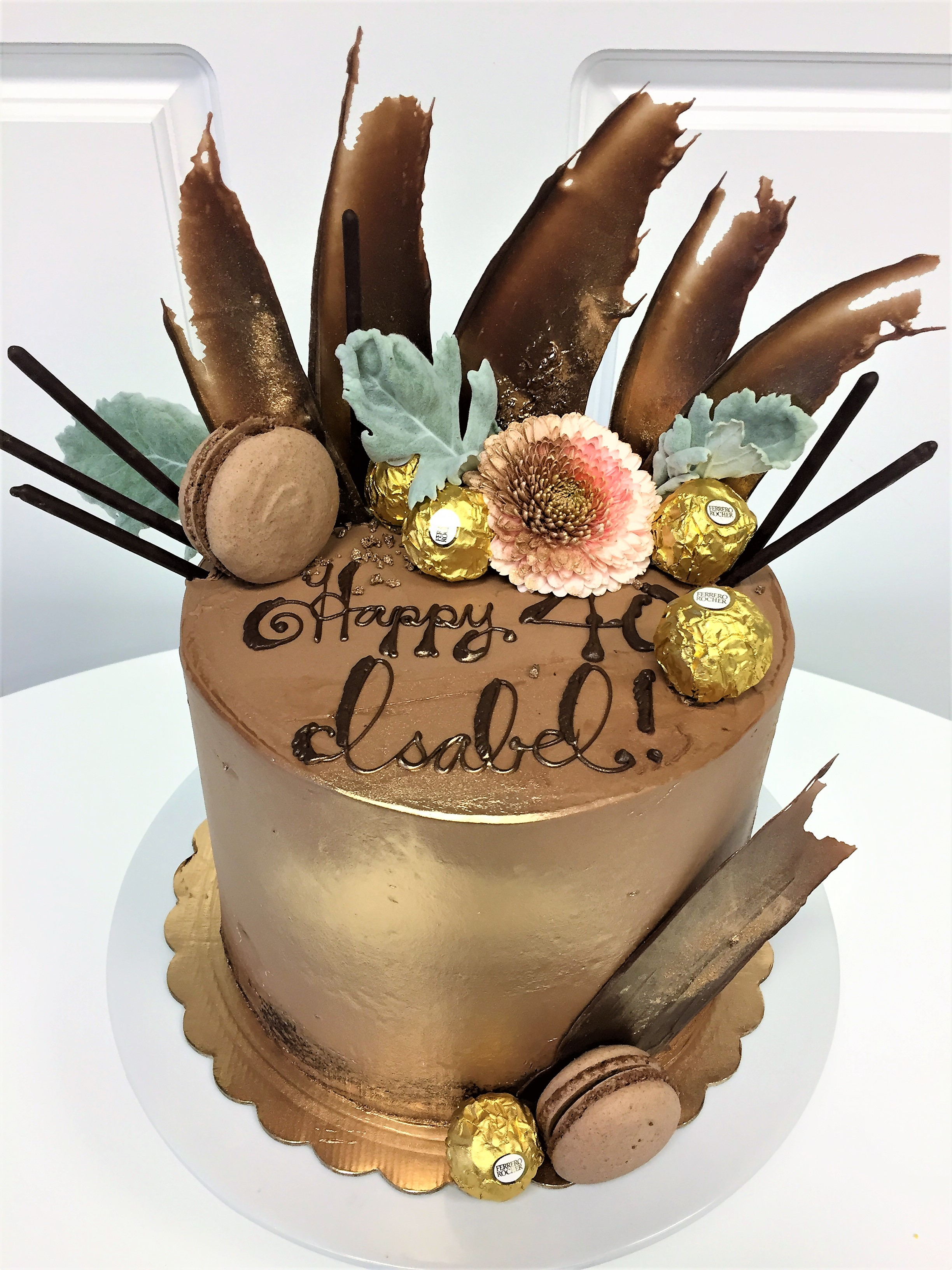 8'' gianduja cake