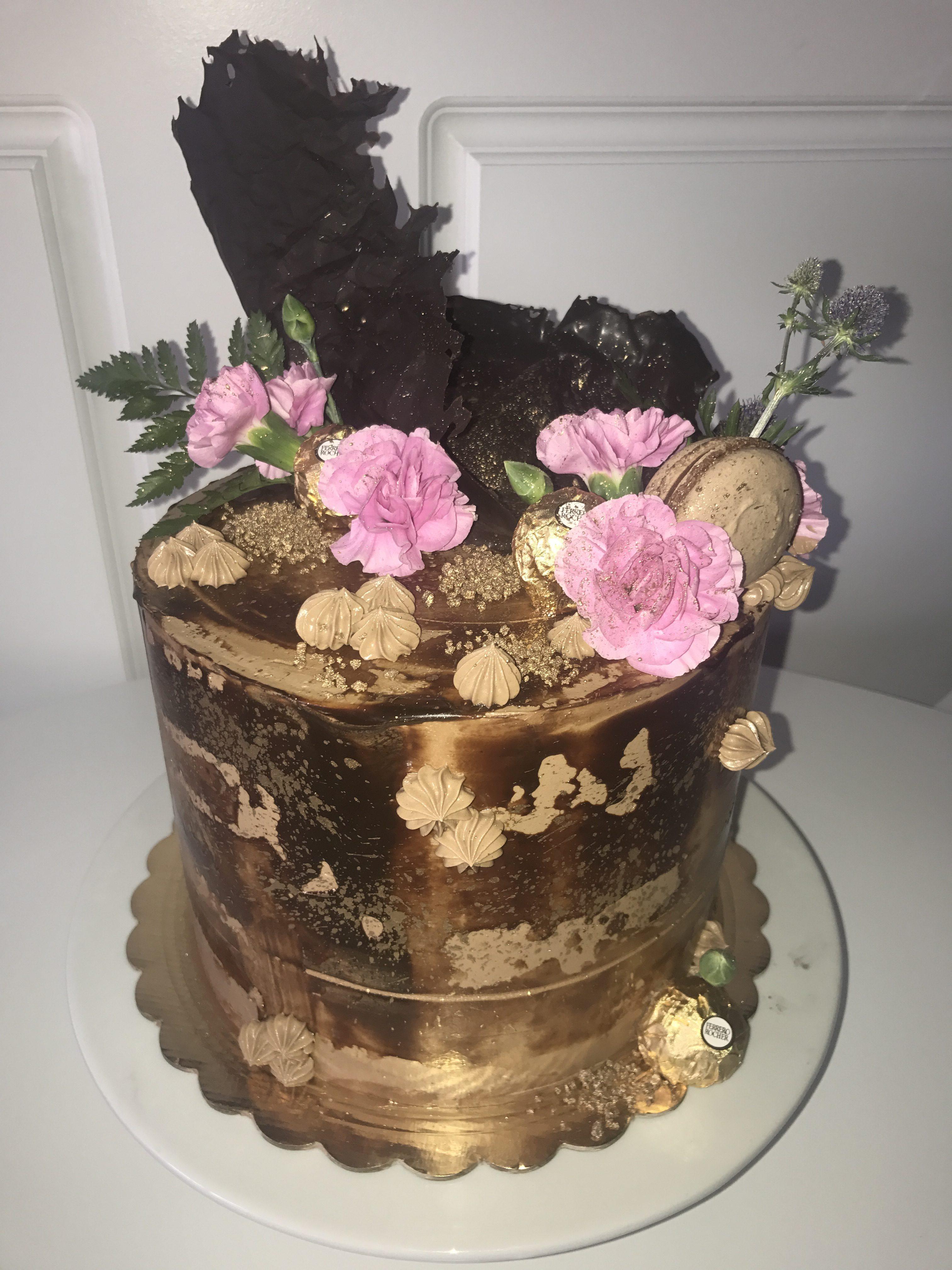 8'' ghirardelli chocolate cake