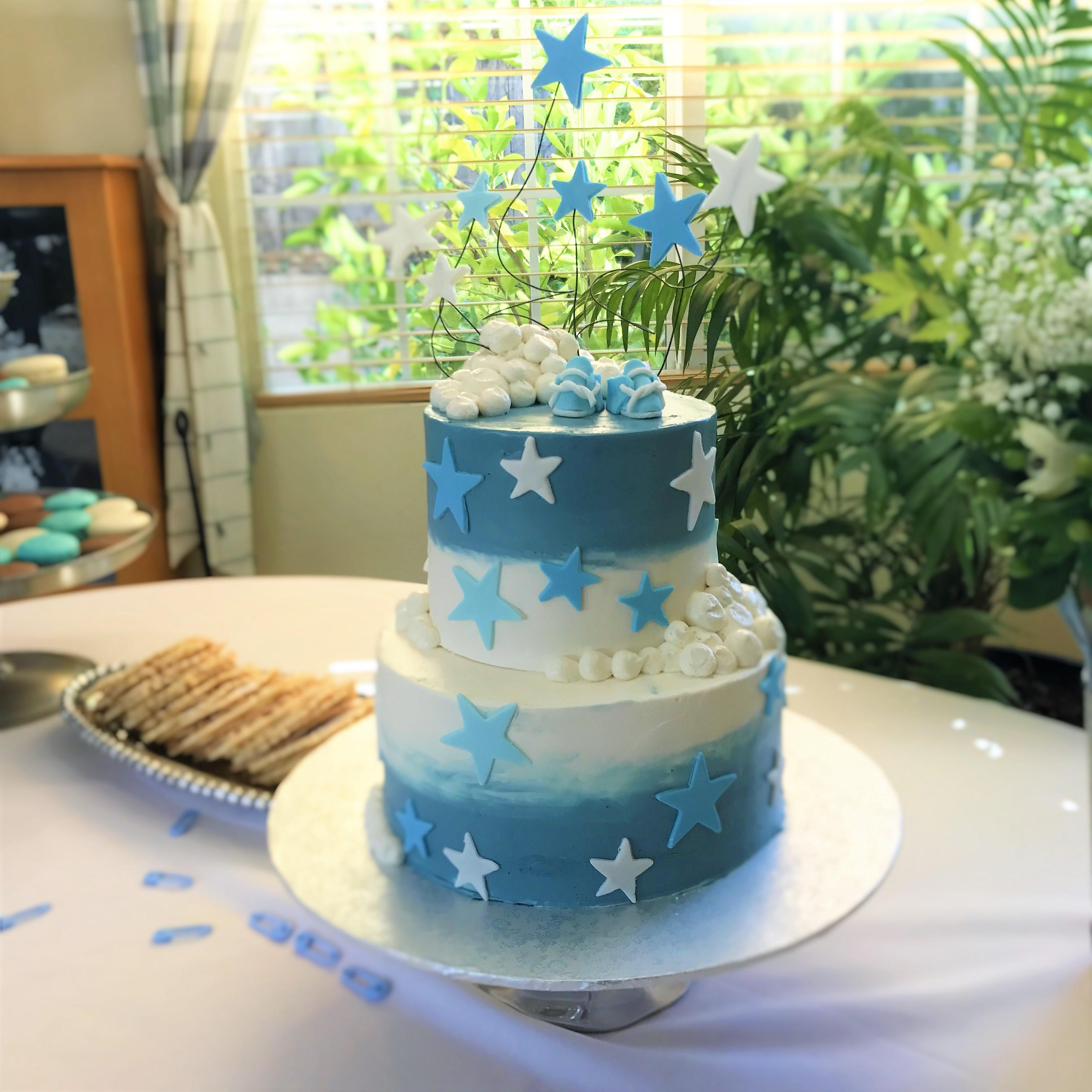 2 tier: 6'' / 8'' baby cake
