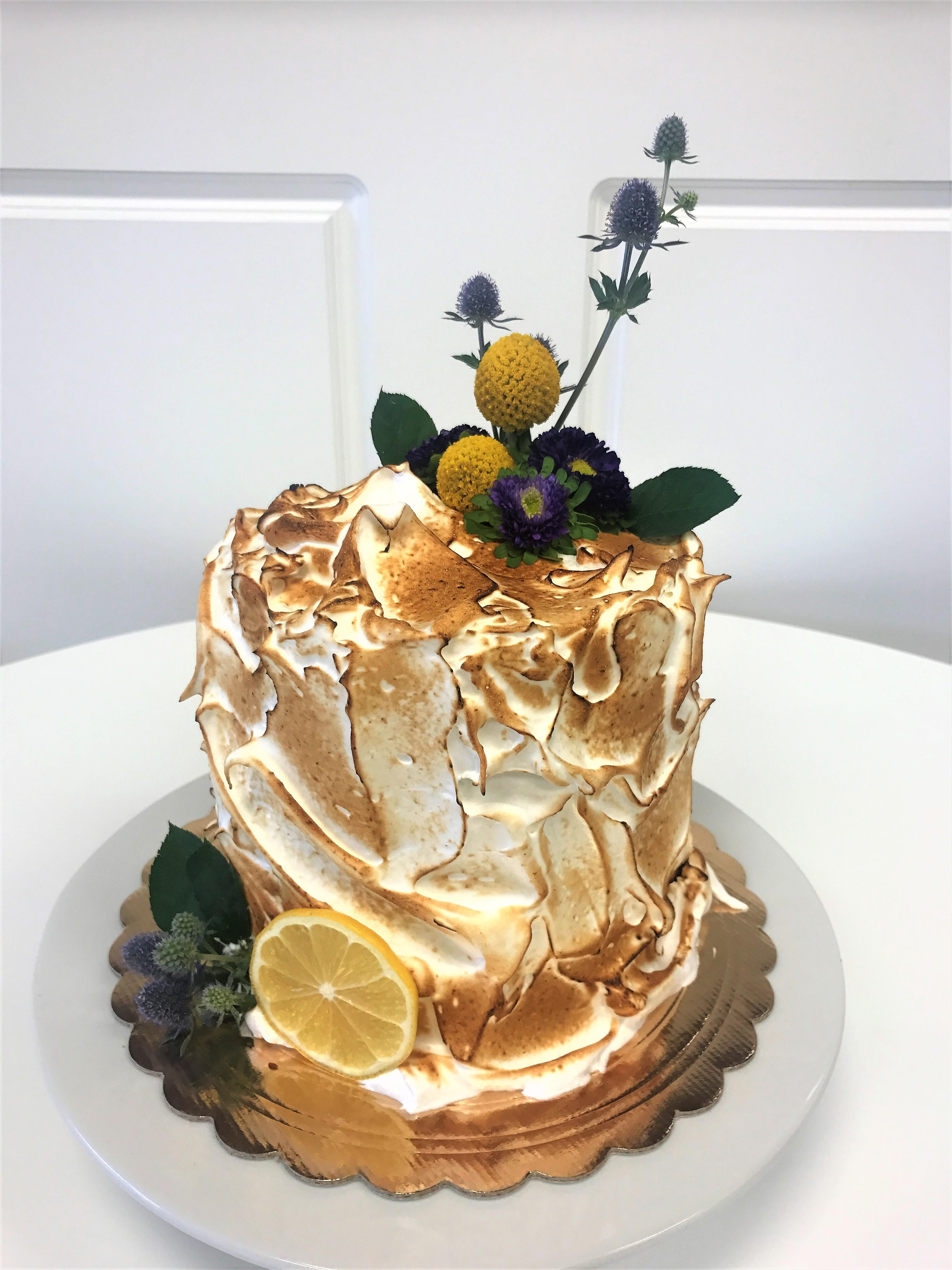 6'' angle food lemon cake