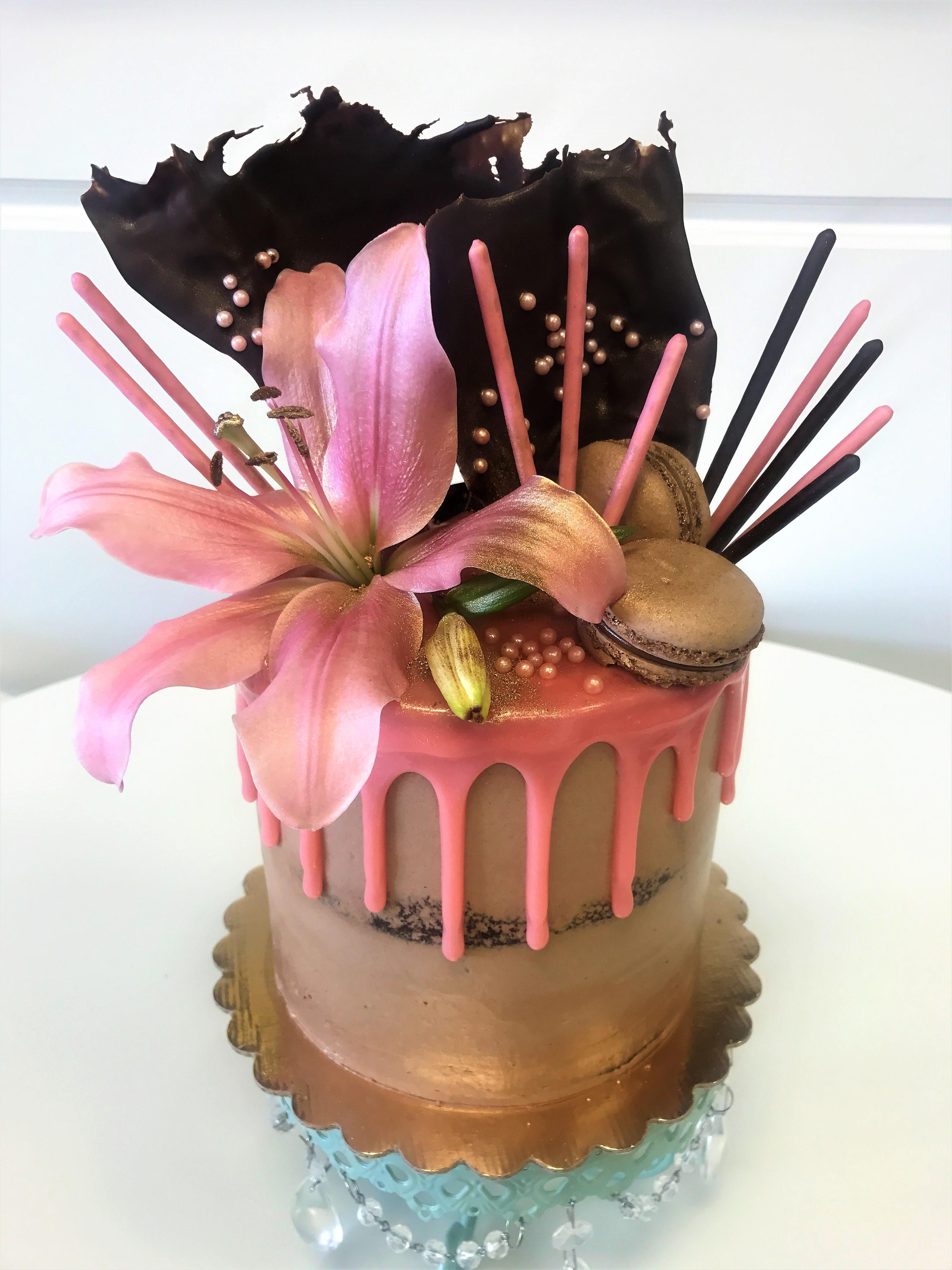 6'' ghirardelli chocolate cake