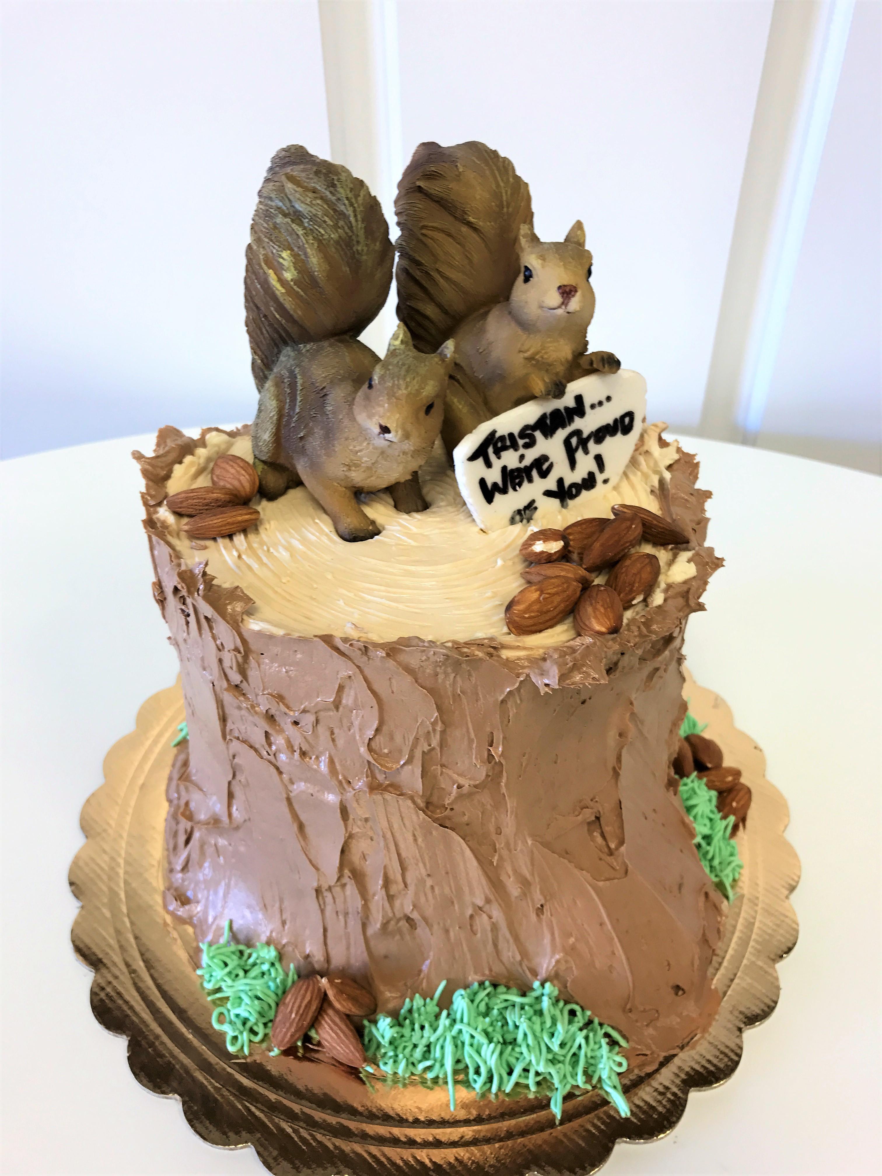 6'' squirrel cake