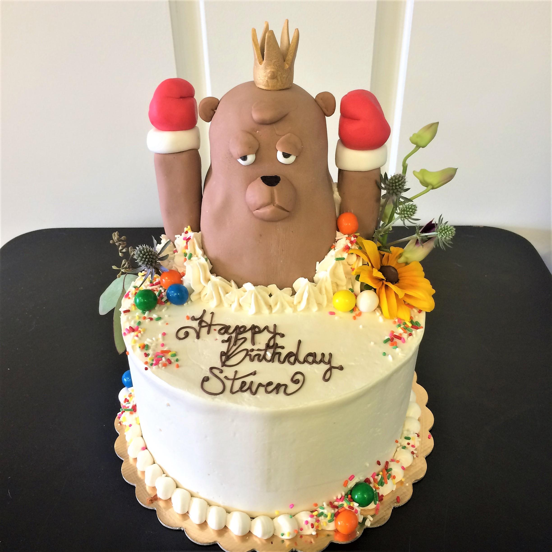 8'' bear cake