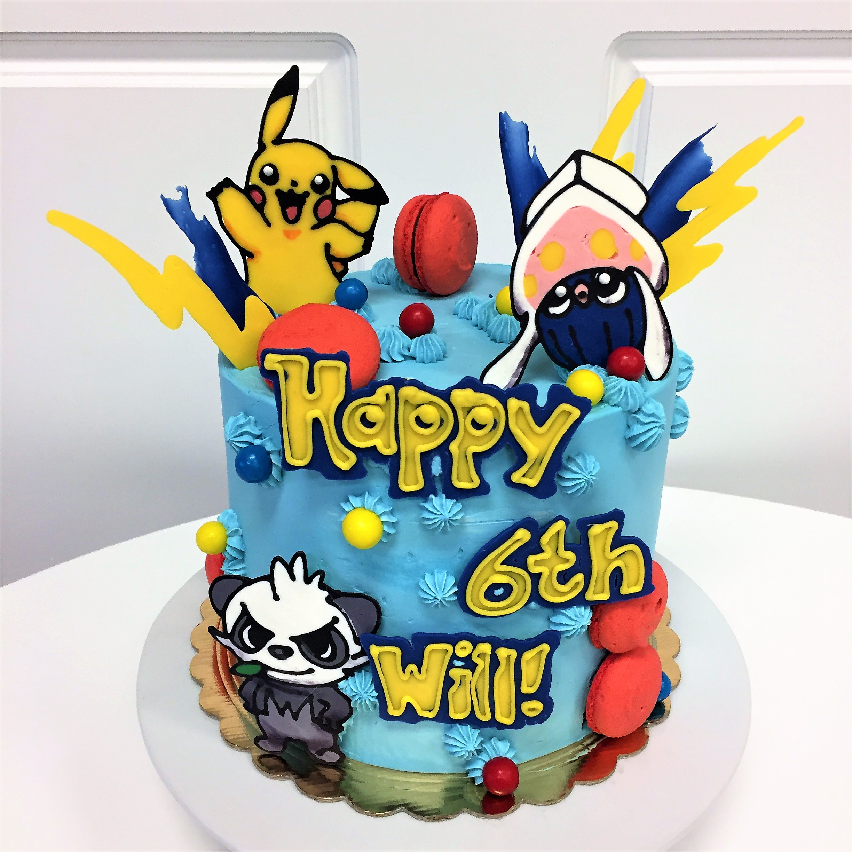 8'' pokemon cake