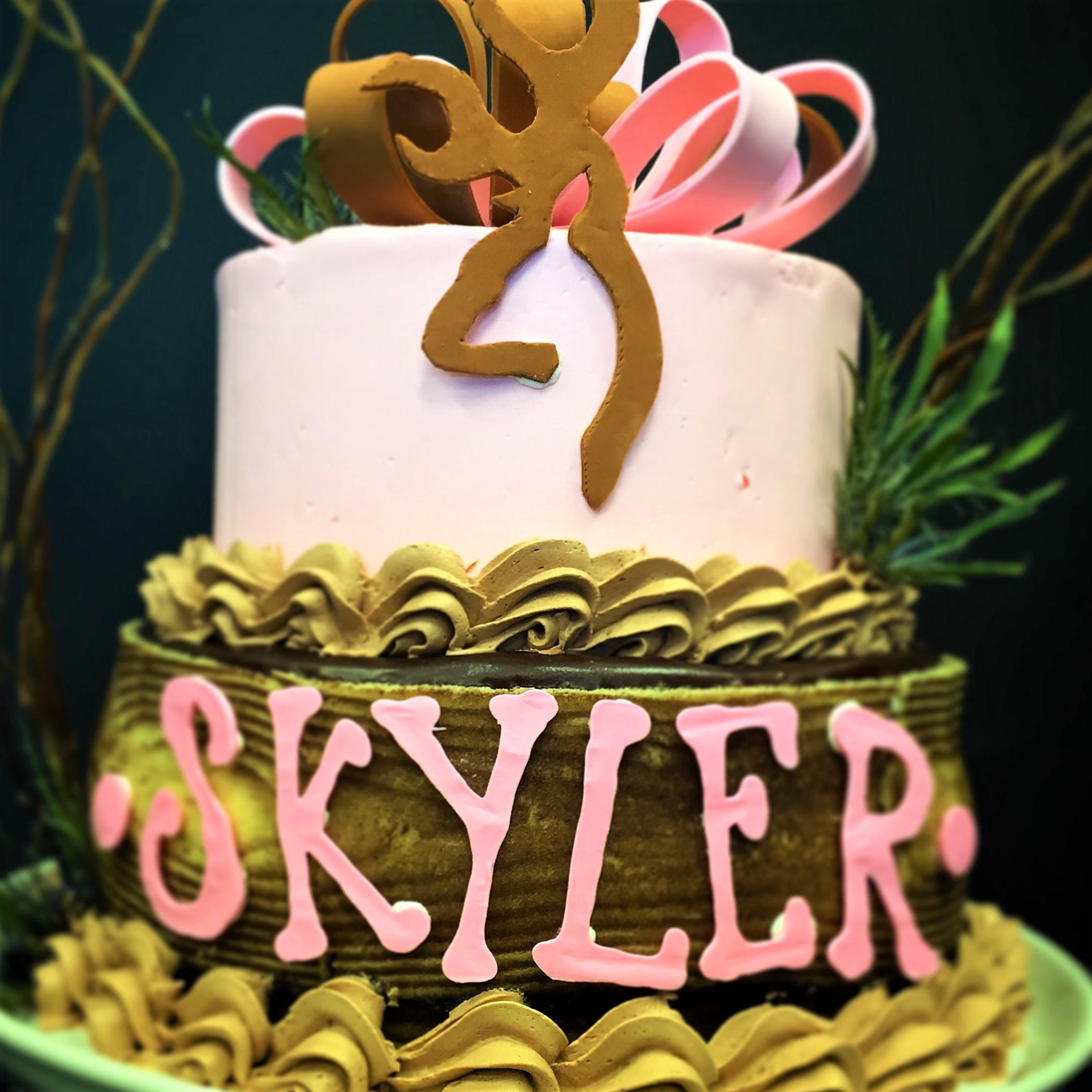 """2 tier: 6"""" / 8"""" birthday cake"""