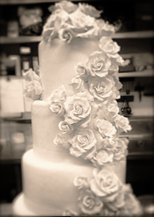 """4 tiered: 6"""" / 8"""" / 10"""" / 12"""" edible flowers"""